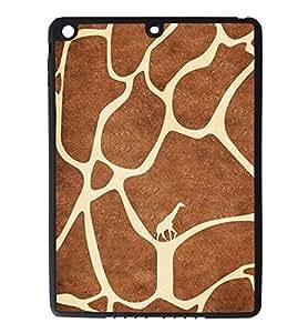 iPad Air Rubber Silicone Case - Giraffe Print Pattern Animal Print