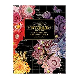 Wendy Gold Map Of The World DIY Greeting Card Folio Galison 9780735357754 Amazon Books