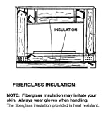 Discount Home and Garden Glass Fireplace Door