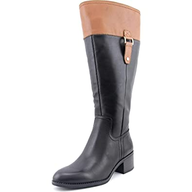 Franco Sarto Women's Lizbeth Wide Calf Black/Brown Boot ...