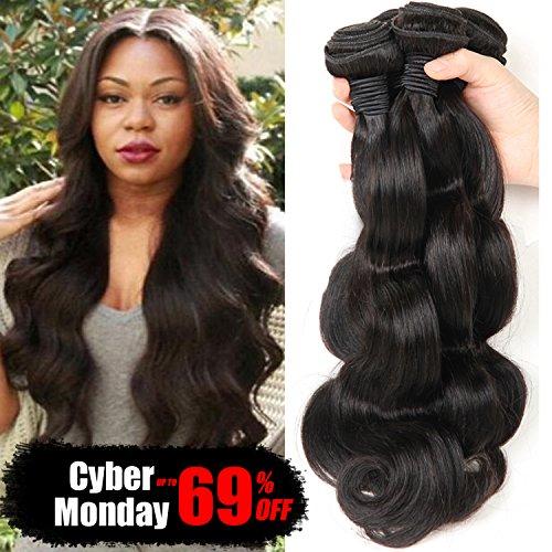 Bestsojoy Brazilian Virgin Hair Body Wave 4 Bundles 8A Unprocessed Remy Human Hair Weave Natural Color (20 22 24 26) by Bestsojoy