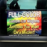 Printing Express Plus 2-18'x24' Custom Magnetic Car Signs Magnetic Auto Truck Signs - Free Design Included!