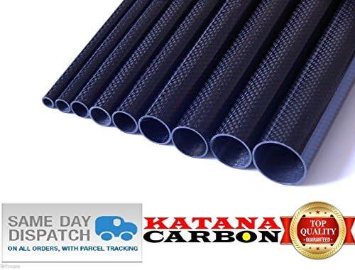 Roll Wrapped 1 x OD 16mm x ID 14mm x Length 500mm 3k Carbon Fiber Tube