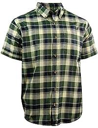 Men's Classic Plaid Short Sleeve Casual Shirt; Button Down
