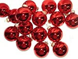 Club Pack of 36 Shiny Red Glass Ball Christmas Ornaments 2.5""