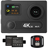 4K Action Camera,Banne 4D3 Ultra HD Waterproof DV Camcorder 12MP 170 Degree Wide Angle- Include Full Accesspries Kits (Black) (H8R)