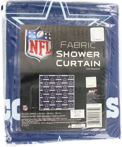 Dallas Cowboys Decorative Bath Collection Shower Curtain, 72 x 72 Dallas Cowboy Shower Curtain