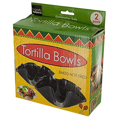 Handy Helpers Taco salad shells, salsa & guacamole dip bowls and much more,Black