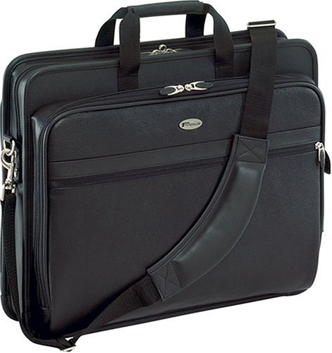 Targus Deluxe Top-Loading Leather Case for 17-Inch Laptops, Black - Notebook Leather Targus Case