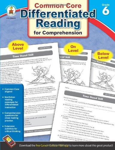 Amazon.com: Differentiated Reading for Comprehension, Grade 6 ...