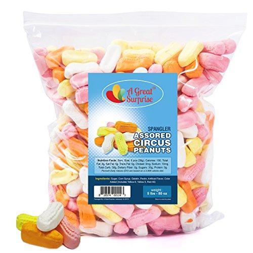 eanuts - Spangler Circus Peanuts Candy, Circus Peanuts Assorted Flavors, 5 LB Bulk Candy ()