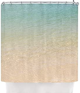 Kess InHouse Catherine McDonald Ombre Sea Beach Photography Shower Curtain