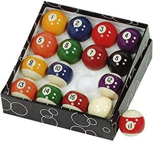Gamesson Billardtisch Pool-Kugeln 5 cm, 3-teilig, mehrfarbig