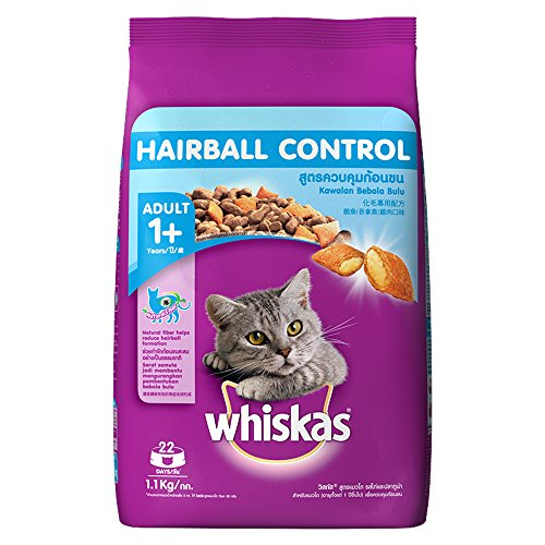 Whiskas Hairball Control Adult – Cat Food Chicken & Tuna, 1.1 kg Pack