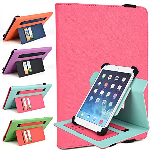 Magenta Pink/Mint Shell Case Fits Nabi 2 7-inch, Nabi Jr, Nabi Nabi 2 Tablet | TwoTone Portrait or Landscape Orientation 360 Stand Cover