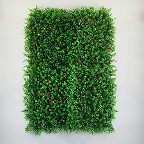 Grass Hanging Panel - CJJC Plastic Green Artificial Plant Screen Panels, Set of 12 Fake Wall Hanging Hedge Grass Background for Home Garden Wedding Party Decor, 60 X 40cm