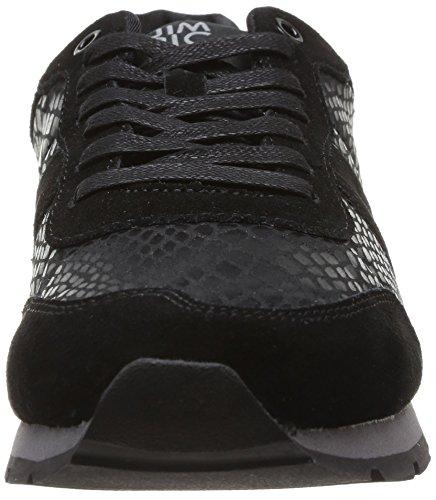 Jim Rickey Ballistic Animal Suede Sneaker Uomo Nero noir black Snake