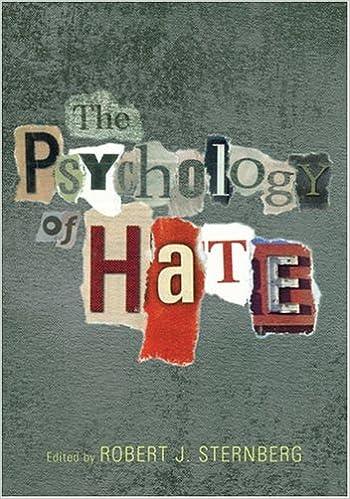 The Psychology Of Hate: Robert J. Sternberg: 9781591471844: Amazon.com: Books