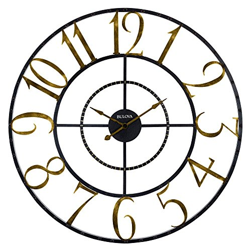 Bulova Colossus Wall Clock, (Bulova Mens Diamond Gold Watch)