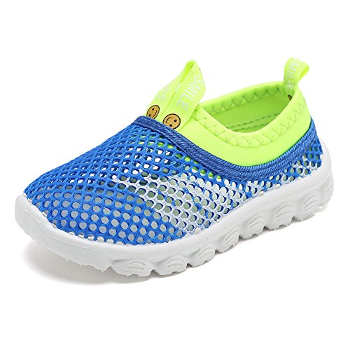 CIOR Kids Light Weight Sneakers AquaShoes Breathable Slip-on For Running Pool Beach Toddler / Little Kid,S633Blue,32 1