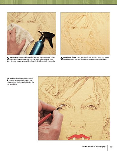 The Art & Craft of Pyrography: Drawing with Fire on Leather, Gourds, Cloth, Paper, and Wood (Fox Chapel Publishing) More Than 40 Patterns, Step-by-Step Projects, and Expert Advice from Lora S. Irish by Design Originals (Image #6)
