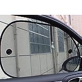 TYFOCUS 2Pcs 6538CM Car Window Sunshade Curtain Side Rear Window Mesh Car Cover Visor Shield Car Window Foils Solar Protection