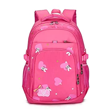 1fb7f8d78f Amazon.com  Gofriendly Girls Canvas School Backpack Bags With Pink Kitty  Pattern - Lightweight School Laptop Hiking Travel Daypack 16