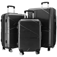 Luggage Trolley Bag Set 3 Pieces Black, Travel Bag set