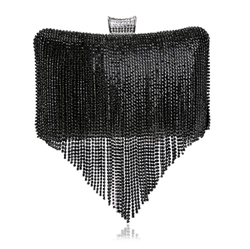 à l'épaule à 7 YHB423 Silver femme porter Noir Sac Argenté pour BESTWALED tqwB6R6