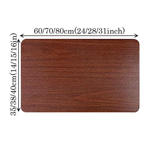 CYY litet väggmonterat hopfällbart bord, utrymmesbesparande väggmonterad droppbladbord, för små utrymmen arbetsbänk kök & matbord (mörkbrun)