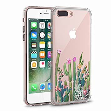 size 40 72642 384d9 iPhone 7 Plus Case, iPhone 7 Plus Clear Case, CASESOCIETY Cactus Floral  Clear Design...