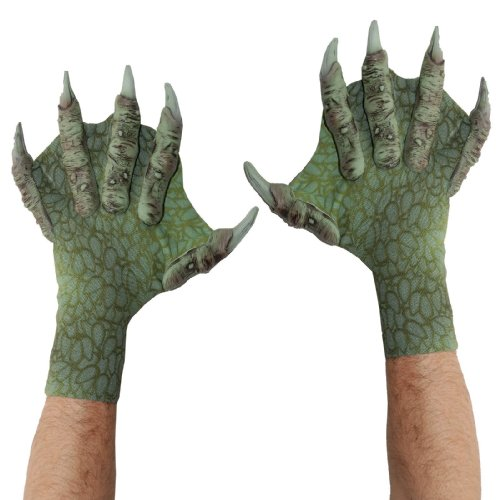 Webbed Sea Creature Gloves - Sea Monster Green