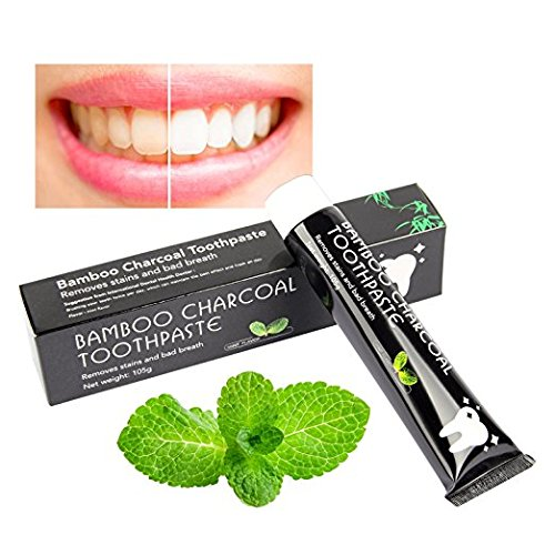 Bamboo Active Charcoal Toothpaste, Highest quality ingredients, Natural Bamboo Charcoal, Enamel-safe, Achieve professional-level teeth whitening (Mint Flavor)