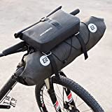 ROCKBROS Waterproof Handlebar Bags Bikepacking Bags Front 2 Dry Packs for MTB Road Bicycles Bikepacking Accessories 19-20L