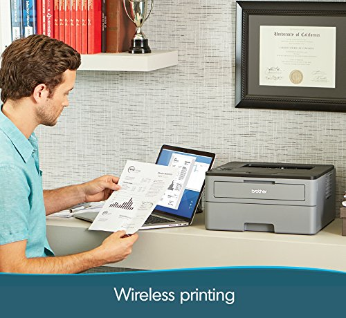 Brother Compact Monochrome Laser Printer, HLL2350DW, Wireless Printing, Duplex Two-Sided Printing