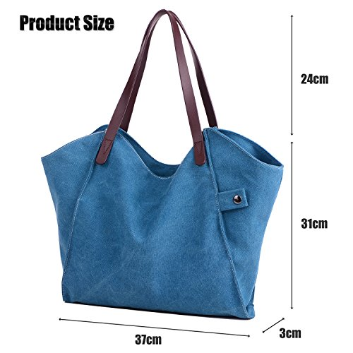 Women's Canvas Bags Blue Beach Hobo Casual Handbags Shopping Losmile Bag Bag Tote Top Shoulder Purse handle qUaCqTWdwx