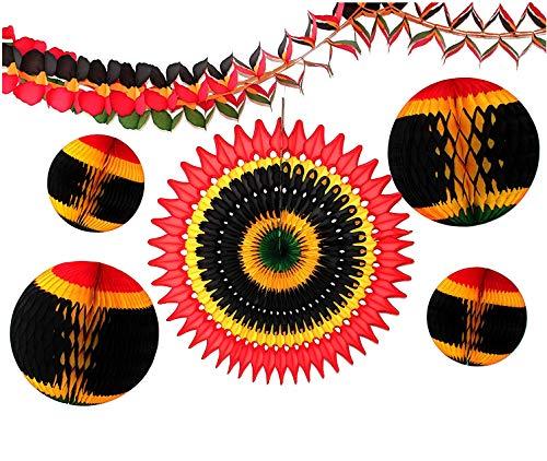 (6-Piece Kwanzaa Honeycomb Holiday Decoration)