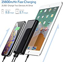 Amazon.com: Portable Charger Power Bank【25800mAh Newest ...
