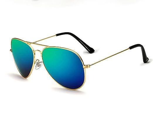 VEITHDIA Sonnenbrille Aviator Polarisiertes Mirrored Pilotenbrille Flieger Sonnenbrille UV400 Schutz Optimal Entwurf Herren und Frauen 3026 (Silber/Blau) SmfZ4c