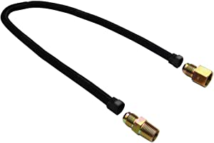 """Stanbroil 1/2"""" X 30"""" Non-Whistle Flexible Flex Gas Line Connector Kit for NG or LP Fire Pit and Fireplace"""