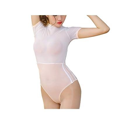 Pijamas_Mujeres Lencería Sexy Perspectiva Tentación Lencería Uniforme Conjunto Mini Falda Calcetines Seducción Azul