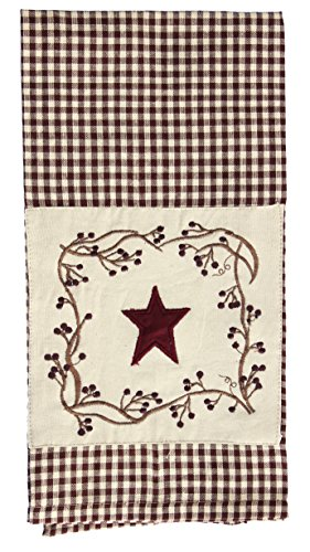 Stars And Berries Patch Country (Country Dish Towel)