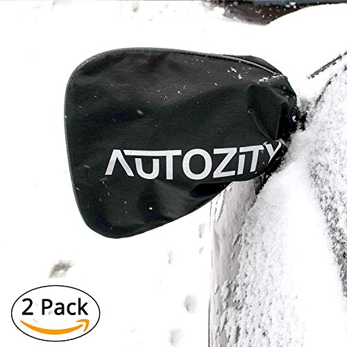 The Friendly Swede Car Side Mirror Snow Covers Set, Car Mirror Covers Protect Auto Exterior Rear View Mirrors from Snow, Ice & Frost, Reflective Print and Margin with Anti Theft Mechanism