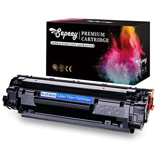 Sepeey Compatible HP 83A CF283A Toner Cartridges High Yield, 1 Black, Compatible with HP Laserjet Pro M201dw M201n MFP M127fw M127fn M225dw M225dn M125nw M125a M125rnw M127fp Printer