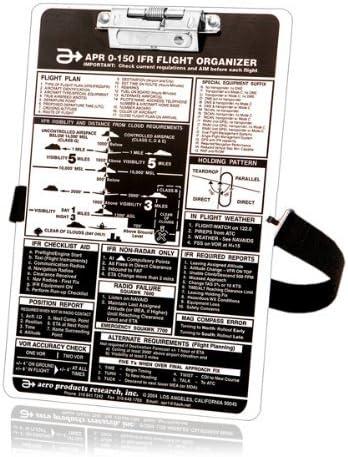 SkyLite Pilot VFR//IFR Aviation Aluminium Kneeboard For Flight and Training