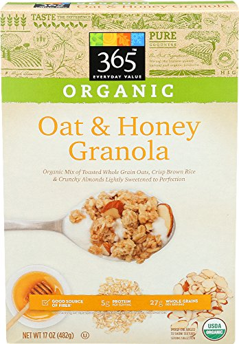 (365 Everyday Value, Organic Oat & Honey Granola, 17 Ounce)
