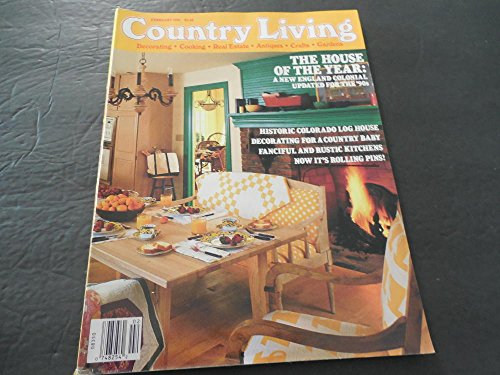 Country Living Feb 1991, Colorado Log Home, Rustic Kitchens