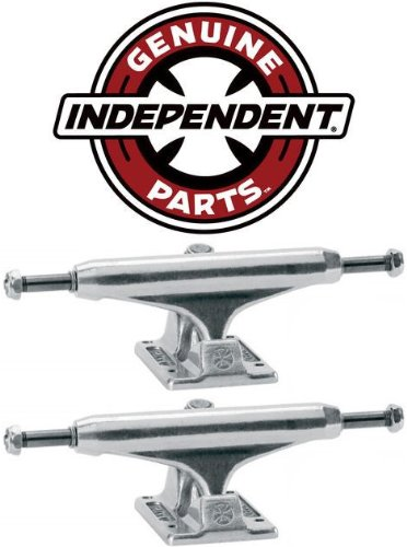 Skateboard Pair Trucks - INDEPENDENT Skateboard Trucks 129mm Silver Raw STAGE 11 7.75 in PAIR (2 trucks)