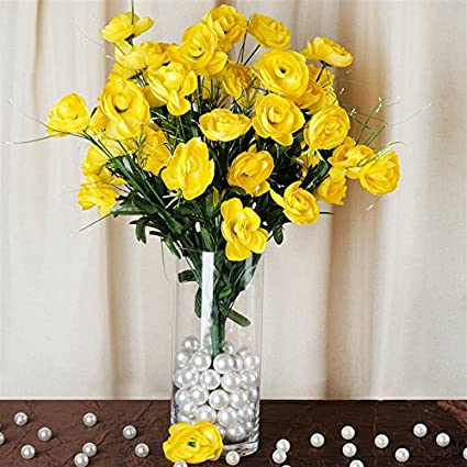Amazon Com 72 Artificial Buttercup Bulb Flowers Wedding Vase