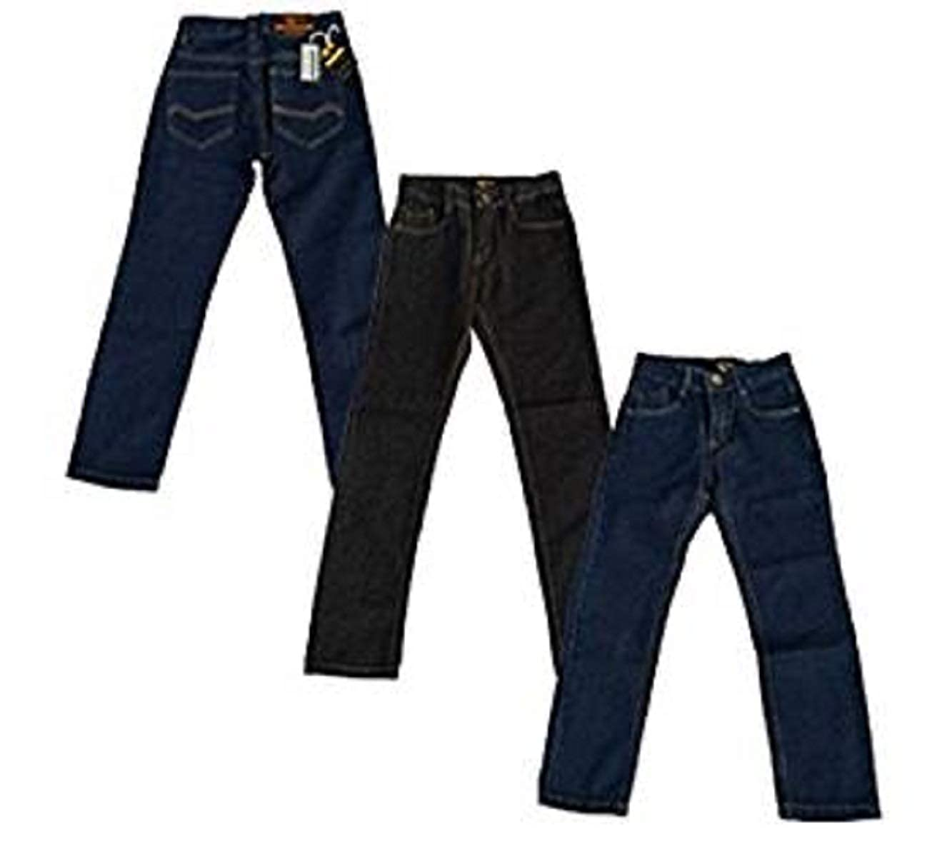 justfound4u Jeans for Boys with Elastic Waist Denim Trousers Adjustable Waist Size 2-16